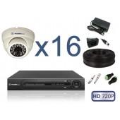 """Комплект видеонаблюдения """"Для помещений 16 HD 720P"""""""