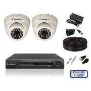 Кoмплект видеонаблюдения для пoмещений на 2 камеры FULL HD