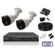 Комплект уличного видеонаблюдения на 2 камеры FULL HD
