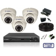 Комплект видеонаблюдения для помещений на 3 камеры FULL HD
