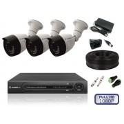 Комплект уличного видеонаблюдения на 3 камеры FULL HD