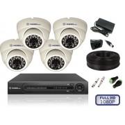 Комплект видеонаблюдения для помещений на 4 камеры FULL HD