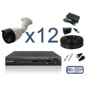 Комплект Уличное видеонаблюдения на 12 камер