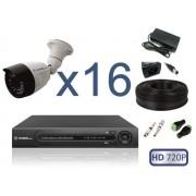 Комплект Уличное видеонаблюдения на 16 камер