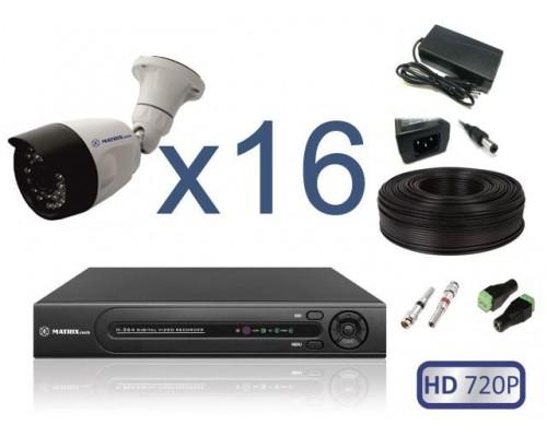 """Комплект """"Уличное видеонаблюдение 16 HD 720P"""""""