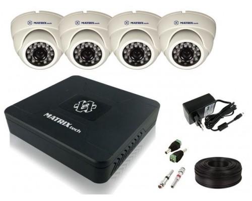 """Комплект видеонаблюдения """"Для помещений 4 HD 720P"""""""