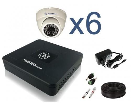 """Комплект видеонаблюдения """"Для помещений 6 HD 720P"""""""