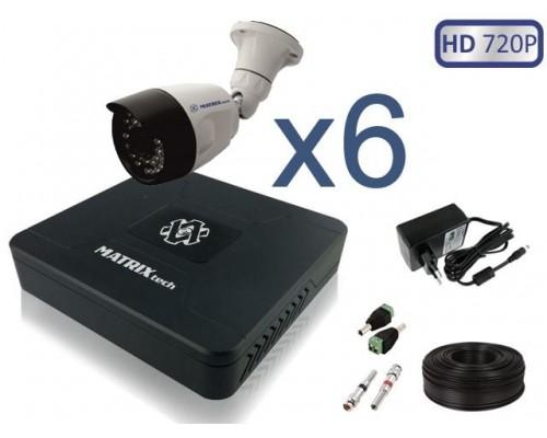"""Комплект """"Уличное видеонаблюдение 6 HD 720P"""""""