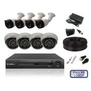 Комплект Внутреннего видеонаблюдения на 8 камер FULL HD