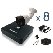 Комплект Уличное видеонаблюдения на 8 HD 720P камер