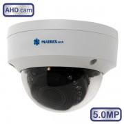 Купольная внутренняя камера  видеонаблюдения MATRIX MT-DW5.0AHD20VK