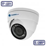 Купольная камера видеонаблюдения MATRIX MT-DW5.0IP20S PoE audio (2.8)