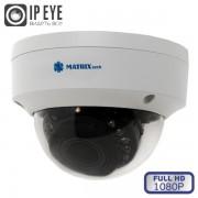 Купольная внутренняя IP камера видеонаблюдения MATRIX MT-DW1080IP20VSE PoE audio